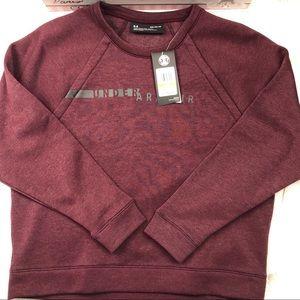 NWT Under Armour Rival Fleece Crew Woman sweater